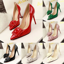 New Women Party Shoes High Heels Pointed-toe Stiletto PU Buckle OL Simple  Pumps