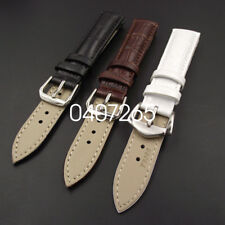 Fashion 18/20mm Croco Grain Style Leisure Durable PU Leather Watch Band Strap