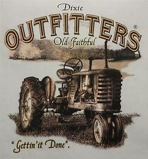 DIXIE OUTFITTERS OLD FAITHFUL TRACTOR GETTIN' IT DONE FARMING SHIRT #6840