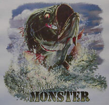 ALL AMERICAN OUTFITTERS FRESH WATER MONSTER BASS FISHING SHIRT #463