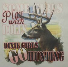 DIXIE OUTFITTERS GIRLS GO HUNTING DEER HUNTER HUNTING SHIRT #6928