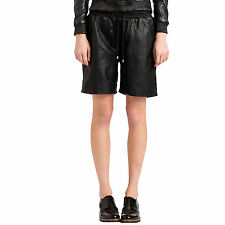 NEW Women's black basketball lambskin leather shorts by VIPARO