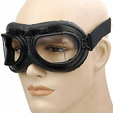 New Vintage Motorcycle Bike Glasses Scooter Aviator Cruiser Helmet Pilot Goggles