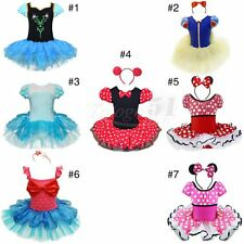 Girls Mermaid Minnie Mouse Party Costume Cosplay Leotard Ballet Tutu Skirt Dress