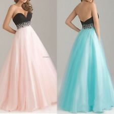 Women Sexy Bridesmaid Dresses Strapless Organza Party Wedding Maxi Dress