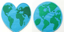 Planet Earth Patch Embroidered Iron on Badge Applique Love Green Peace Globe