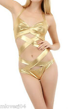 Moschino Gold Cutout Embellished One Piece Swimsuit Swim BNWT Costume  2
