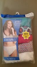 new jms just my size hi-cuts 5 pack.cotton panty.   assorted colors