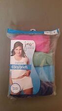 new jms just my size boy brief 4 pr. cotton panty   assorted colors