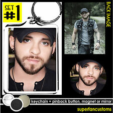 Brantley Gilbert KEYCHAIN + BUTTON or MAGNET or MIRROR pin badge key ring #1324