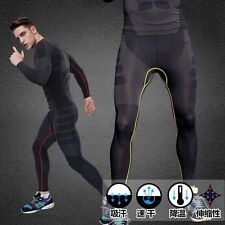Men's Fitness Compression GYM Tight Pants Running Skin Base Layer Long Leggings