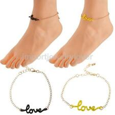 Fashion Adjustable Sexy Ankle Chain with Love Decor Colorful Anklet Bracelet