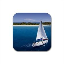 Sailing Bottle Opener Keychain and Beer Drink Coaster Set