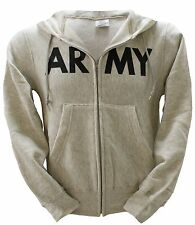 NEW US Original Military Zip-front Zip-Up Army Print Hoodie Hooded Sweatshirt