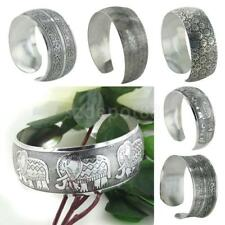 Vintage Women Girl Tibetan Tibet Silver Totem Bracelet Open Bangle Cuff