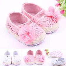 Cute Flower Embellished Toddler Baby Shoes Baby Girl Crib Prewalker Shoes