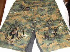 USMC MARINES MARSOC MAR-SOC MARPAT  MMA PT BOARD SHORTS FIGHT SHORT SIZES S- 3XL