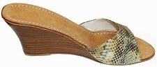 Women shoes sandal snake leather comfort fashion casual Dione Us size 3 to 12