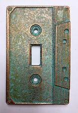 Cassette Tape Light Switch Cover - Aged Copper/Patina or Stone