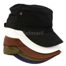Cotton Twill Crops Hat Flat Top Ball Cap Sun Sports Baseball Hat Casquette Cap