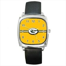 Green Bay Packers Round & Square Leather Strap Watch - Football NFL