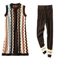 NEW! Missoni Girls Colore Sleeveless Sweater Dress & Leggings Set - Colore/Brown