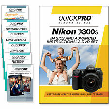 QuickPro Camera Training DVD For Nikon D300 Instructional SLR Video Guide NEW