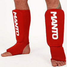 Manto Logotype Shin Guards Pads Kickboxing MMA Muay Thai