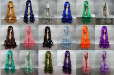 "100CM/39"" Party Fashion Sexy Cosplay Wig Wavy Curly Colors Full Hair Long Wig"