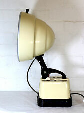 A Vintage Industrial Table Lamp 1950's Hanovia Heat Lamp Upcycled to Desk Lamp