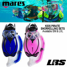 KIDS SNORKELLING SET NEW MARES ALLEGRA PIRATE  Child Mask Snorkel Fins Flippers