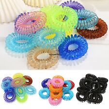 12X Rope Elastic Rubber Hair Ties Scrunchies Hair Bands Bobbles Ponytail Holders
