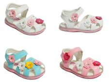 Baby Toddler Girls Kids Princess Sandals Velcro Flower Soft Sole Mules Shoe Size