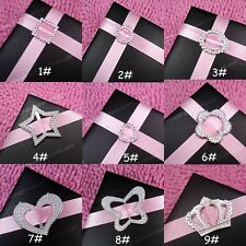 10-500 Buckle Ribbon Slider 9 Styles Wedding Party Card Invitation Scrapbooking