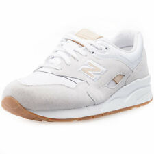 New Balance CM1600 Mens Leather & Suede White Grey Trainers