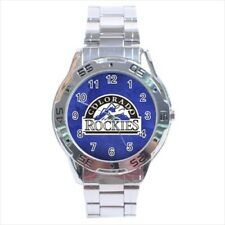 Colorado Rockies Stainless Steel Watches -MLB Baseball