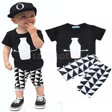 Infant Baby Boys Sportswear Clothes T-shirt Top+Short Pants Outfit Sets Age 0-5Y