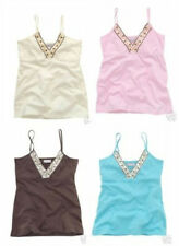 NWT Aeropostale Premium Beaded Cami Tank Top  Georgous neckline shelf bra