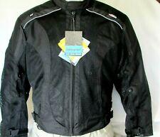NEW Black MESH Armored Motorcycle BIKER Jacket w/Zipout waterproof liner Reg$149