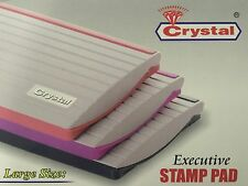 STAMP INK PAD FOR CLASSIC STAMP RANGE 110 X 70 mm CHOICE OF COLOR BLACK,RED