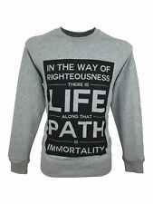 SALE £24 /Mens Righteous London Life Path Crew Grey Sweatshirt Jumper Size Large
