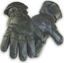 Black Deerskin Sport Thinsulate Insulated 150 Gram Leather Motorcycle Gloves