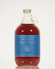 1 Half Gallon Pure Vermont Maple Syrup in a Glass Bottle- Choice Grade