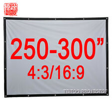 250-300 Inches Wall Mount Outdoor Movie Projector Projection Screen Curtain Film