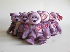 Six TY Beanie Babies Signature Teddy Bear Collectors Party Bags Gifts Bargain.