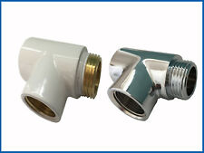 T-Piece for the Dual / Mixed operation in white or Chrome For Bathroom Radiator