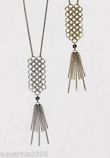 Twist and Tassel Long Necklace by mark Avon
