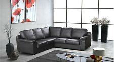 ** NEW AMY FAUX LEATHER CORNER SOFA IN BLACK BROWN OR CREAM