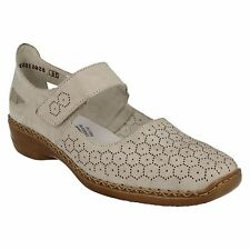 LADIES RIEKER 41357 CUT OUT DETAIL MARY JANE STYLE VELCRO STRAP CASUAL SHOES