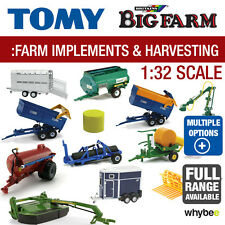 TOMY 1:32 BRITAINS FARM TOYS FARM IMPLEMENTS AND HARVESTING EQUIPMENT RANGE NEW